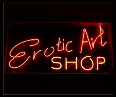 Erotic Art Shop Neon Sign